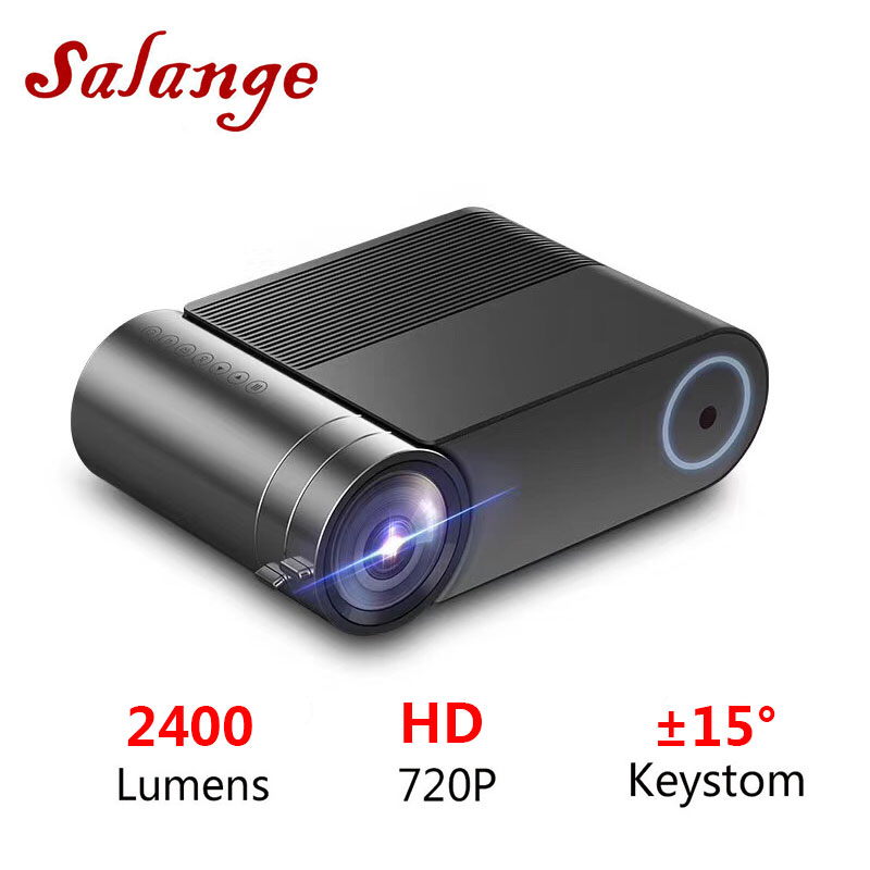 Salange Mini Projector Theatre-System 1080p Home Beamer Video Wifi YG550 Lumens 1280x720