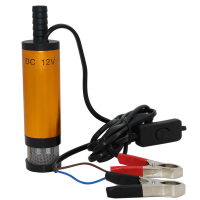 Portable Mini 12V 24V DC Electric Submersible Pump For Pumping Diesel Oil Water Aluminum Alloy Shell 12L/min Fuel Transfer Pump 2