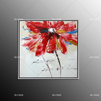 Hot Selling Frameless Picture Home Decor Flower Painting Handwork Draw On Canvas Wall Art Flower For