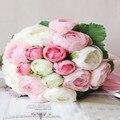 Elegante Handmade Flor Artificial do Casamento Decoração de Casamento Buquê de Casamento Flores Bouquets de Noiva de Noiva 2016