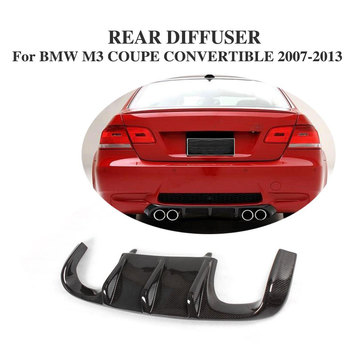 Carbon Fiber Rear Bumper Diffuser Lip Spoiler For BMW E92 M3 Bumper 2007-2013 image
