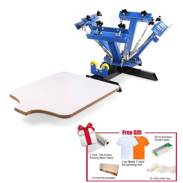 4 Pantalla de impresión a color de prensa máquina serigrafía ...
