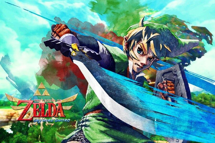 NºDIY marco la leyenda de Zelda: Skyward Sword juego arte seda Telas ...