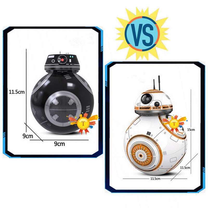 Star hero BB8 Wars пульт дистанционного управления шарик робота игрушка BB-8 дроид RC BB 8 BB-9E последнее управление расстояния джедай детские развивающие игрушки