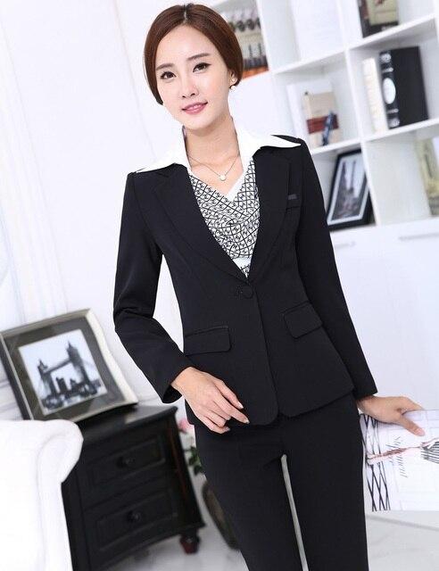 b41d6711781fe New Professional Business Women Blazer And Pants Ladies Office Formal  Pantsuits Uniform Design Trousers Set Outfits