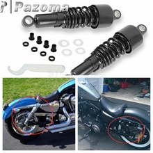 Black Steel Front and Rear Lowering Slammer Drop Kit Suspension for 1984-2013 Harley Touring FLT FLHT FLTR