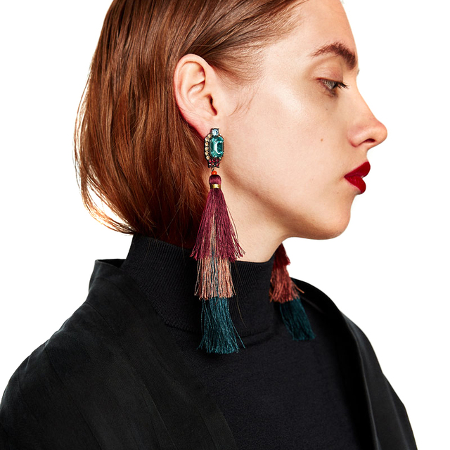 Good Long Tassel Earrings