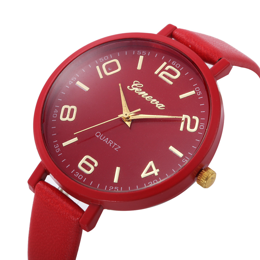 Women Casual Checkers Faux Leather Quartz Analog Wrist Watch Female Girlfriend Woman Dress Watch Party Decoration Women Watches