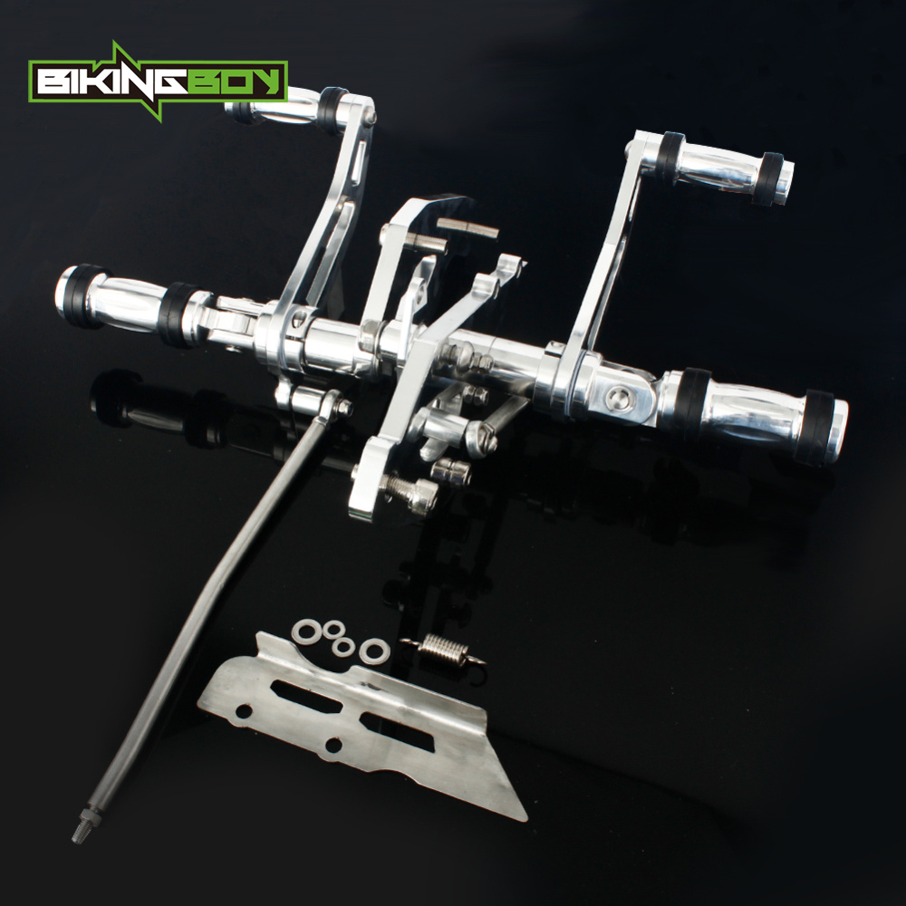 BIKINGBOY CNC Billet Forward Controls Footpegs for VN900 Vulcan 900 B Classic LT VN900C Custom SE