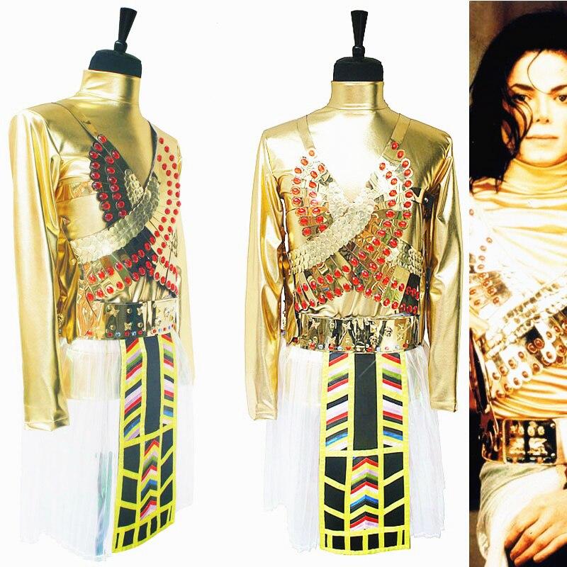 Редкие Майкл Джексон MJ Египет Фараон вы помните время комплект уникальный танец наряд Искусственные парики Хеллоуин костюм Chritmas Show