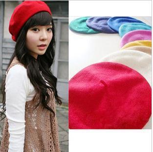 Senhoras moda imitado lã BOINA chapéu pintor CHAPÉU cap cúpula moda mulher bonito DM12029A