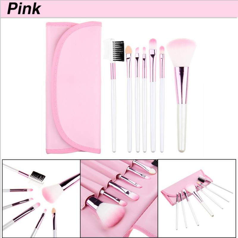 Makeup Brushes Set colorido em PU saco