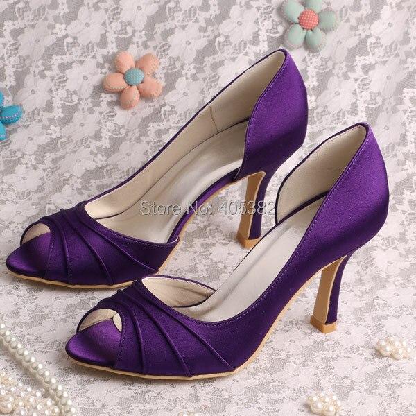 Popular Purple Satin Medium Heels-Buy Cheap Purple Satin Medium