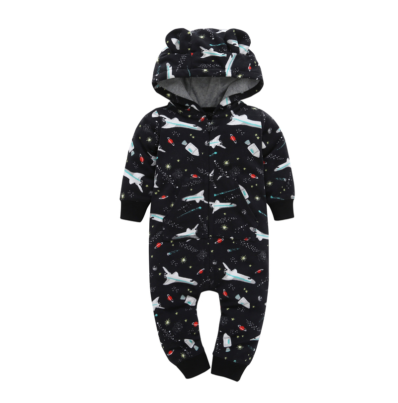 HTB1t.MEj22H8KJjy0Fcq6yDlFXaL kid boy girl Long Sleeve Hooded Fleece jumpsuit overalls red plaid Newborn baby winter clothes unisex new born costume 2019