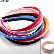 3 шт./лот повязки Пластик hairbands дамы/девочек/дети просто Стиль волос Обручи зубы ярких цветов оптовая продажа