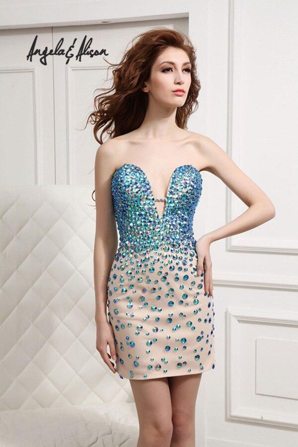 Платья с кристаллами короткие