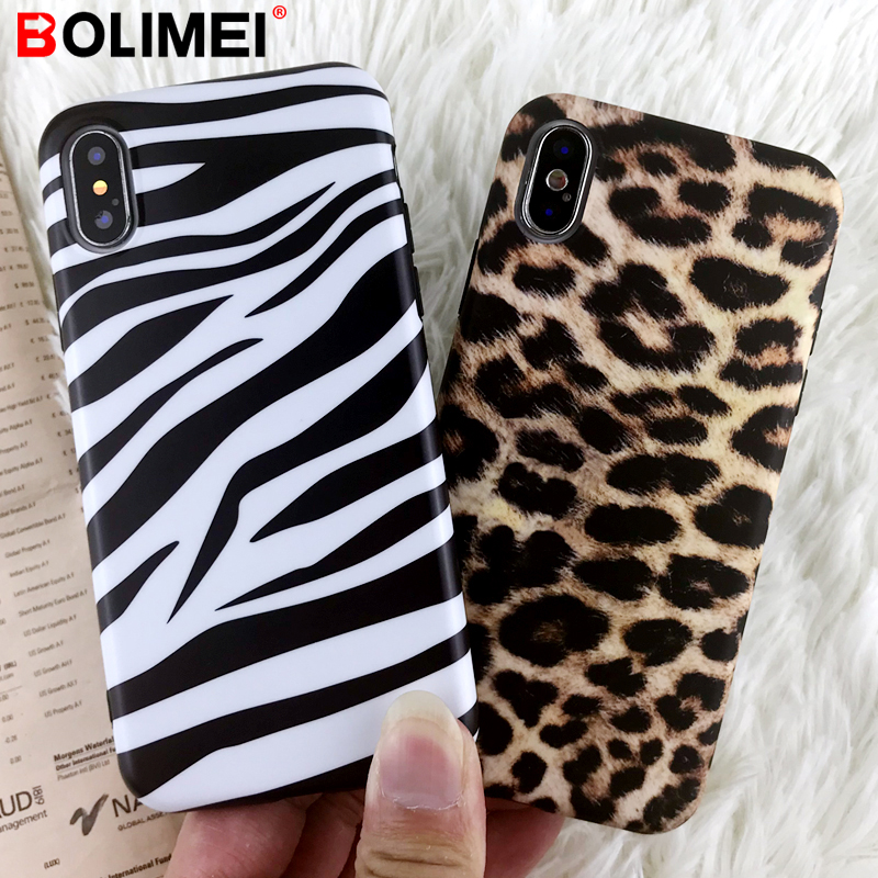 Luxus Leopard Zebra-<font><b>Print</b></font> Telefon Fall Für <font><b>iphone</b></font> <font><b>X</b></font> XR <font><b>XS</b></font> <font><b>Max</b></font> Ultra-dünne Silicon Soft Cover Für <font><b>iphone</b></font> 6 6 s 7 8 Plus Fall Coque image