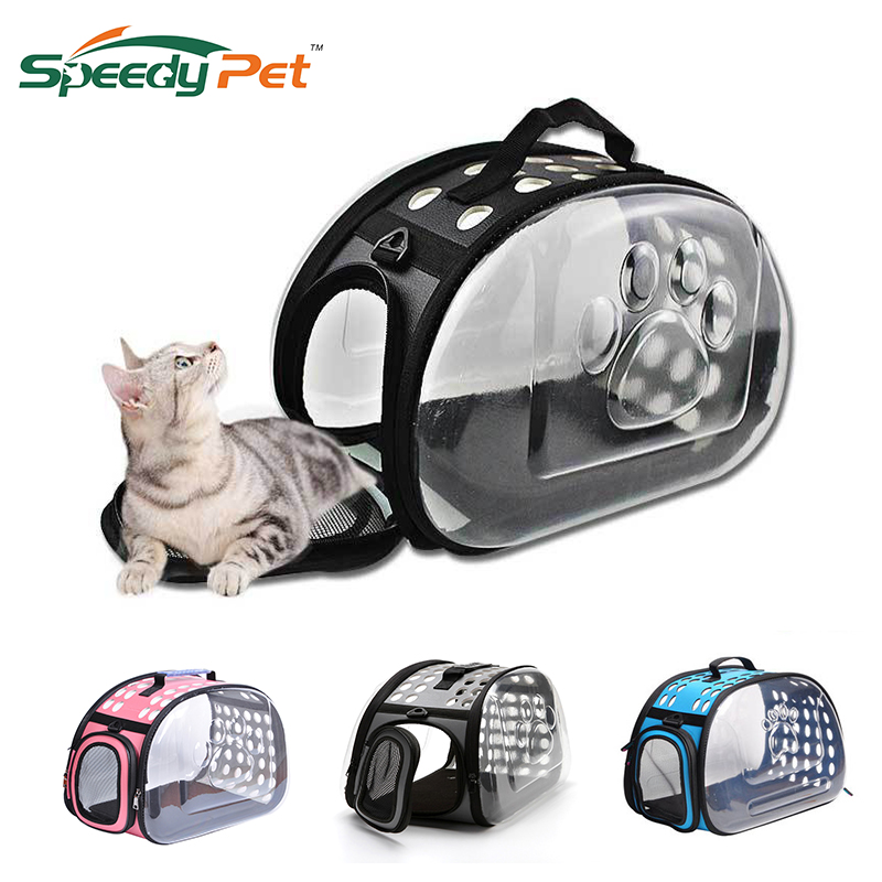 Transparent Pet Carrier Travel Bag For Small Dogs And Cats Foldable Pet Travel Kennel Portable Pet Carry Handbag Zipper Opening