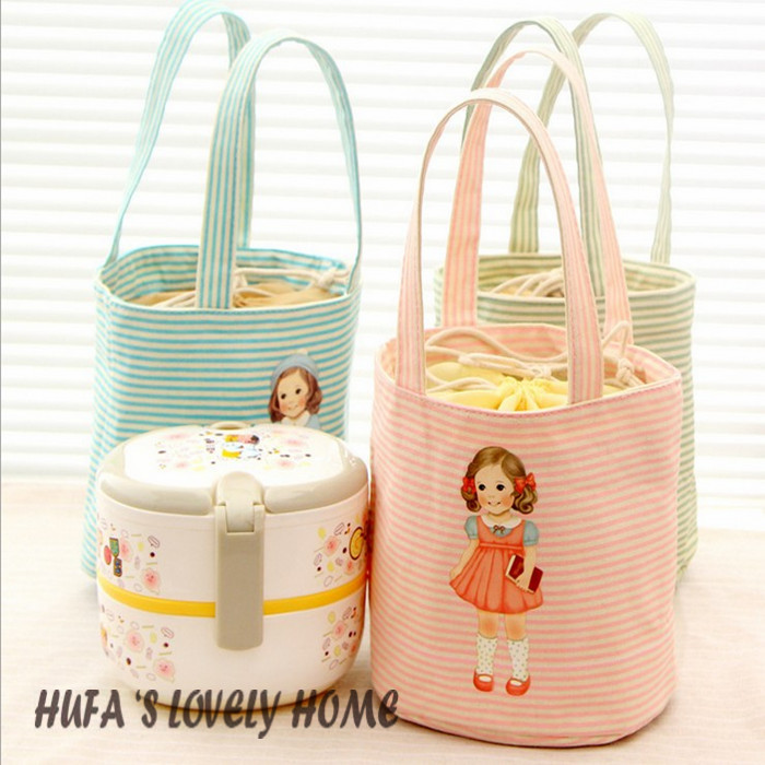 Lovely insulated lunch bag warmer bag cooler bag isothermic bag with 4 different colors