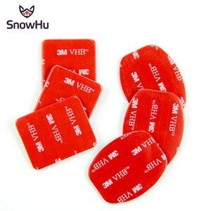 Image 1 - SnowHu 6Pcs אדום 3M VHB דבק מדבקת 3 מעוקל 3 שטוח צד כפול עבור Gopro hero 9 8 7 6 5 לxiaomi יי 4k GP14