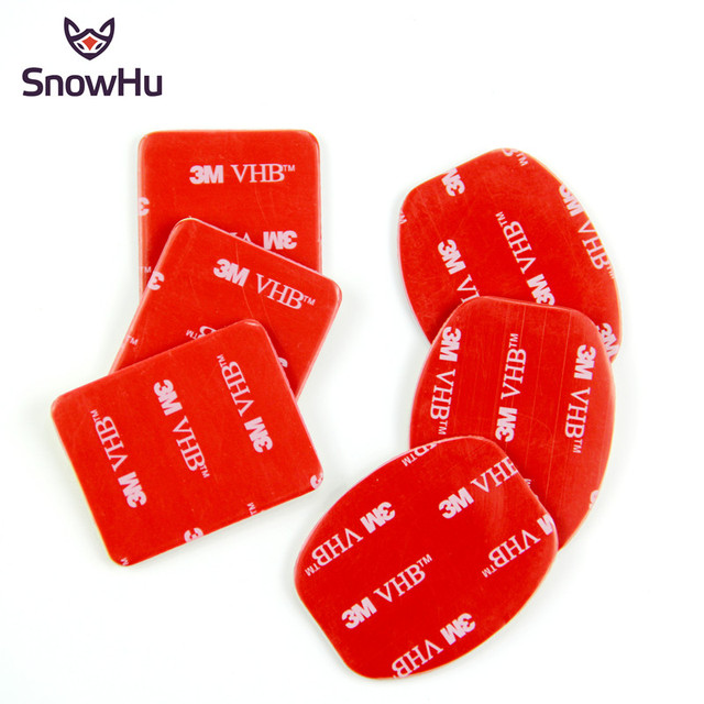 SnowHu 6Pcs אדום 3M VHB דבק מדבקת 3 מעוקל 3 שטוח צד כפול עבור Gopro hero 9 8 7 6 5 לxiaomi יי 4k GP14