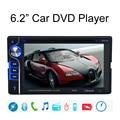 6.2 ''Carro DVD Player + Digital 2 Din Bluetooth DVD Player Multimídia apoio USB SD AUX CD Drive Chamada Handfree FM Estéreo rádio
