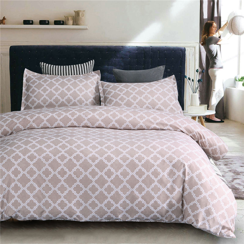 Geometric Bedding Set Duvet Cover Pillowcase Set Bedclothes Skin-friendly Soft Home Bedroom Living Room Set