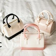 Casual Women Silicone Summer Sweet Handbags Tote Bag Girls Pouch Bolsas Famous Ladies Jelly Mini Crossbody Shoulder Beach Bags