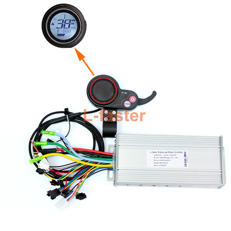 450W~1000W Electric Brushless Motor Controller Thumb Throttle With LCD Screen Electric Scooter Speed Controller And Accelerator
