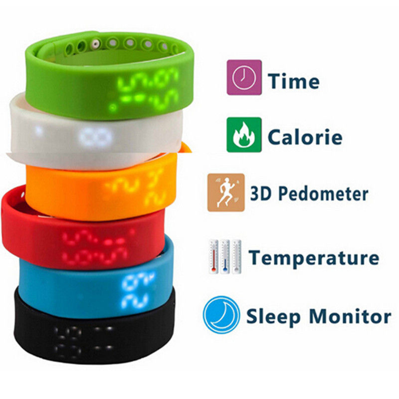 Hot On Sale New Multi Functional 3D Healthy Smart Pedometer Intelligent Bracelet Android Worn W2 Sports