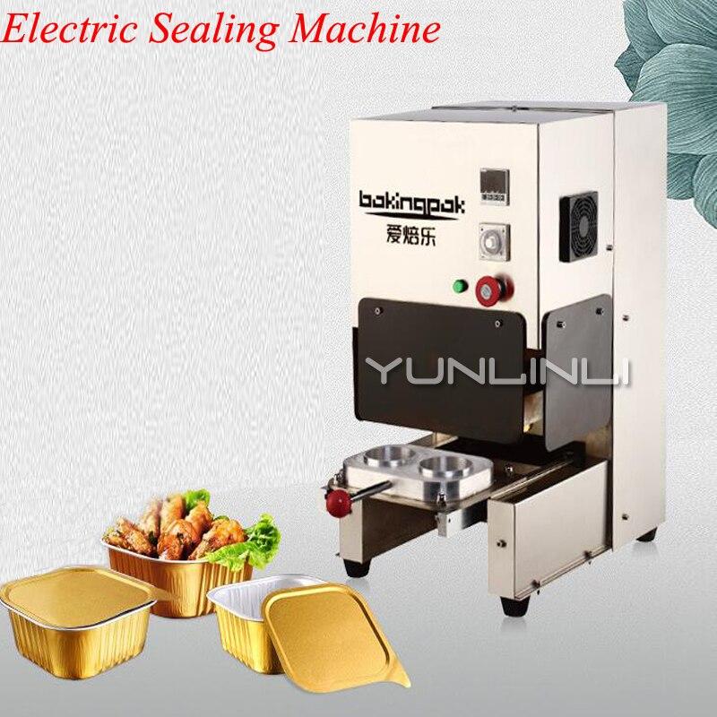 Machine de cachetage électrique de papier d'aluminium de la Machine 220 V 2200 W de cachetage de boîte d'emballage de papier d'aluminium de restauration