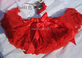 Дети хэллоуин красный юбки девушки шифон пушистый pettiskirts пачка бальное платье ребенка рябить pettiskirt