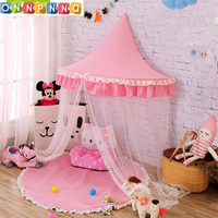 Foldable Kid Tent Princess Teepees For Children Canopy Bed Curtains Baby Room Decoration Pink Girls Christmas