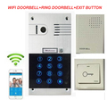 New Arrival Wifi Video door doorbell Metal HD Home Security IP video intercom door phone +Inside doorbell+Exit button free ship