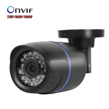 AZISHN CCTV IP Camera 720P/960P/1080P Bullet 24pcs IR Cut Megapixel Lens Outdoor Security ONVIF Night Vision P2P DC12V/PoE 48V