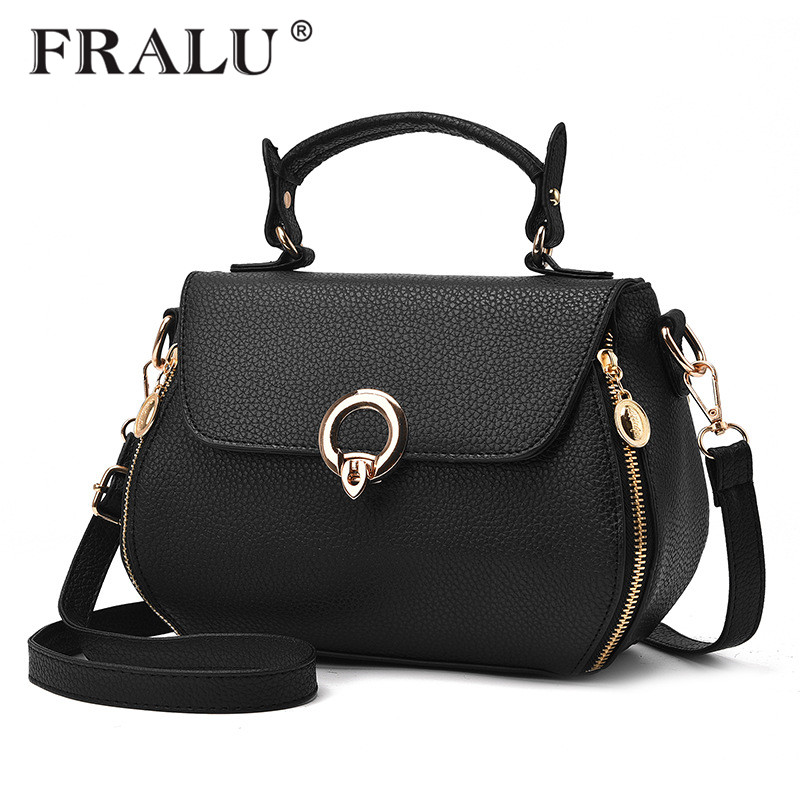 FRALU Shell Small Handbags New 2017 Fashion Ladies PU handbag Casual Purse Designer Crossbody Shoulder bag Women Messenger bags feral cat women small shell bag pvc zipper single shoulder bag luxury quality ladies hand bags girls designer crossbody bag tas