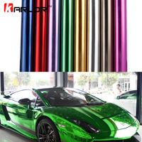 Chrome Mirror Vinyl Wrap Film Sticker Sheet Decal DIY Car styling Automobiles Body Protect Auto Car Accessories Air Bubble Free