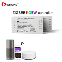 GLEDOPTO ZIGBEE Bridge Led Controller RGBW Dimmer Strip Controller DC12 24V Comptible With Amazon Echo Plus