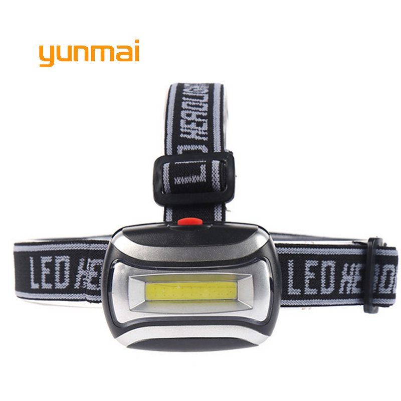 Yunmai Super Bright Led Headlamp COB Headlight Waterproof 3 Mode Headtorch Hiking And Camping Head Lamp Light Use Aaa Battery