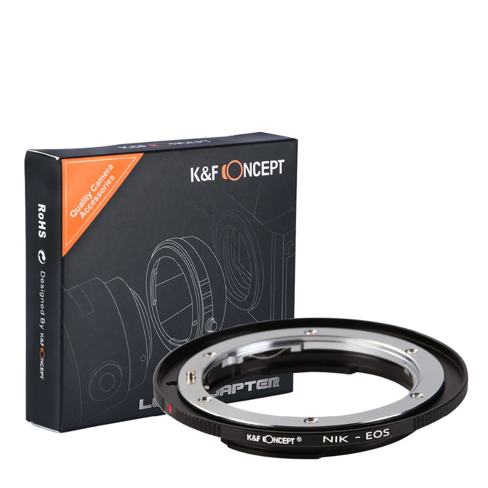 K&F CONCEPT Camera Lens Mount Adapter Ring for Nikon F AI Ai-S Lens to for Canon for EOS EF Camera Body 600D 60D 5D 500D