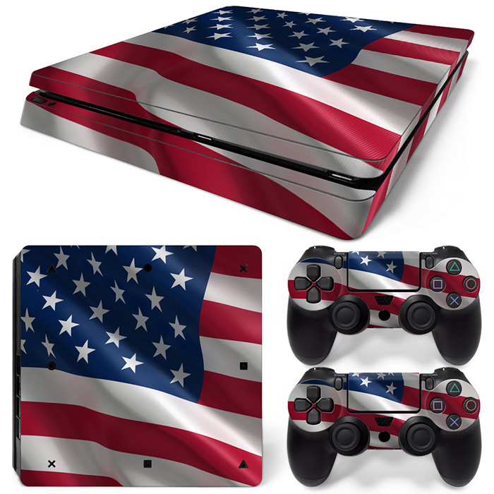 Free Drop Shipping for Video Game Skin Decal Cover Sticker for ps4 slim-USA FLAG TN-P4Slim-1503