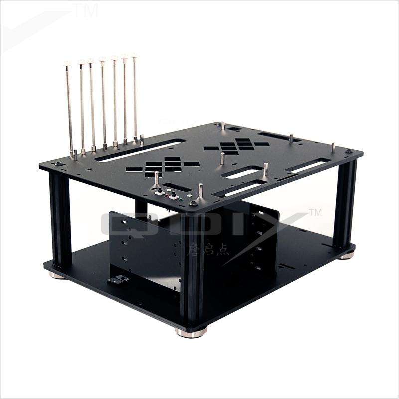 QDIY PC-D008 PC Excellente Cool Personnalité Noir Acrylique ATX PC Boîtier De L'ordinateur De Bureau