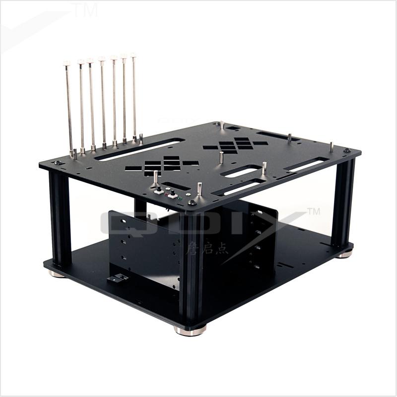 Prix pour Qdiy PC-D008 PC excellente Cool personnalité noir acrylique ATX PC boîtier de l'ordinateur de bureau
