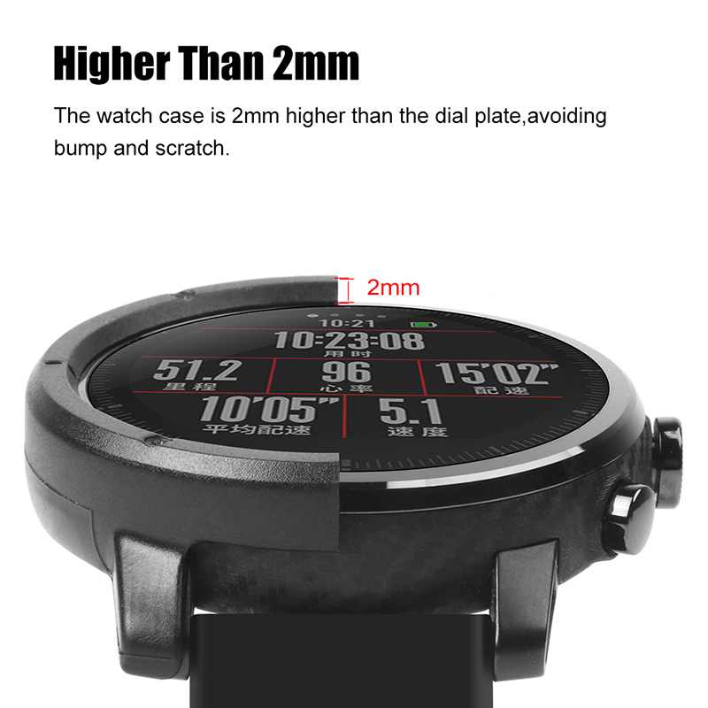 AMAZFEEL Smart Watch Case For Huami Amazfit Stratos 2 Watch Accessories PC Case For Huami AMAZFIT Stratos Pace 2 Protective Case