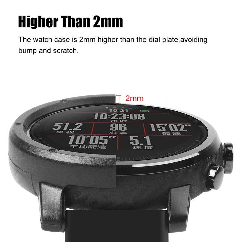 AMAZFEEL reloj inteligente para Huami Amazfit Stratos 2 accesorios de funda para PC para Huami AMAZFIT Stratos ritmo 2 de protección caso