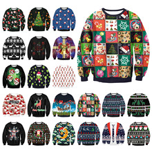 Unisex Men Women 2017 UGLY CHRISTMAS SWEATER Vacation Santa Elf Funny Womens Men Sweaters Tops Autumn Winter Clothing