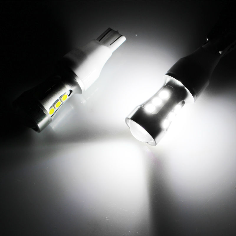 2pcs 1000lm Super Bright High Power 912 921 906 T10 T15 W16W LED For car Reverse Backup Lights, 6000k White Color