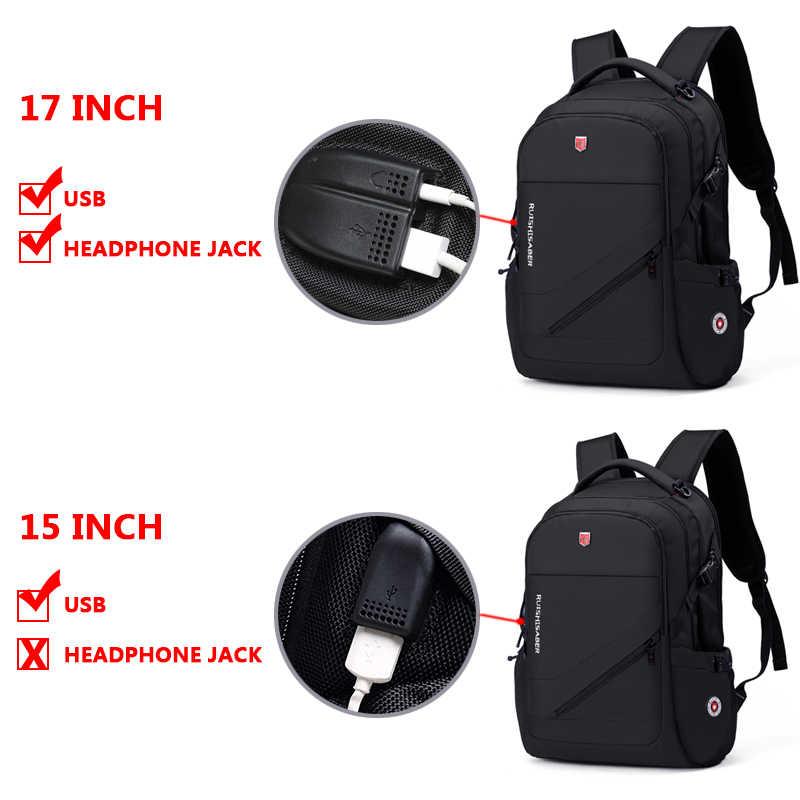 Anti-Thief USB Pengisian Ransel Laptop Pria Swiss Oxford Bagpack Tahan Air Perjalanan Ransel Wanita Vintage Tas Sekolah 15/ 17 Inch