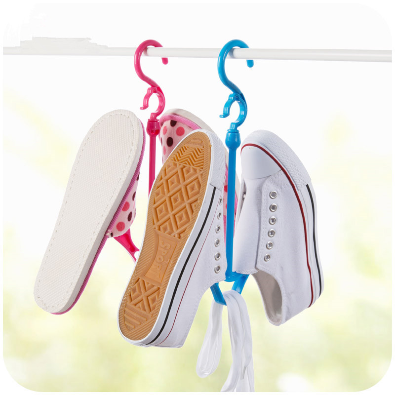 1pc Anti-Wind Drying Shoe Rack shoe Hanger Hook Clothes Rack Display Holder Clothing