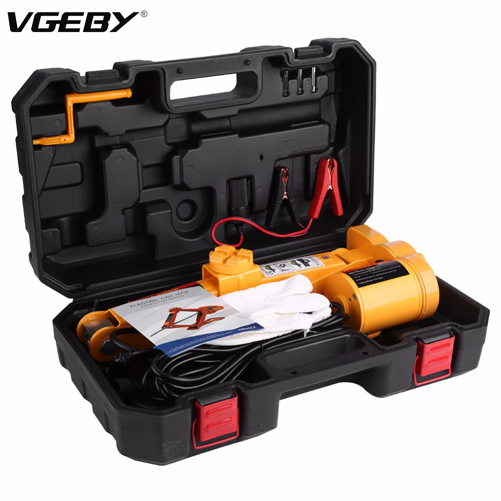 Oversea Automotive Electric Jack Lifting Car Suv Emergency Equipment W/ Impact Wrench Car Accessories Lifting Jack 3ton 12v Dc Car Jacks